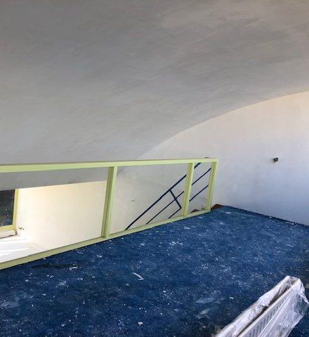 Renovatie woning met rond plafond
